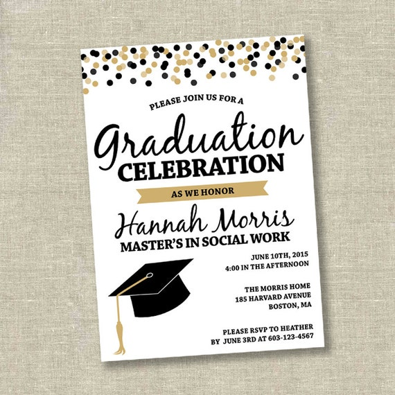 Graduation invitation college graduation invitation high
