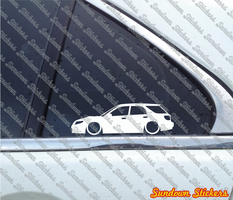 Saab 9 2x Aero Wrx: 2X Low Car Outline Stickers For Saab 9-2x / 92x Aero Turbo