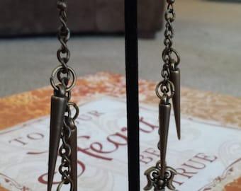 Edgy dangle earrings