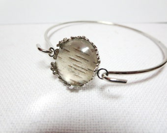 Birch  bracelet -Real Birch Bark  jewelry -Woodland Necklace -Birch Tree earrings - Bark bracelet