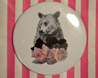 Brown Bear Pocket Mirror