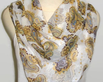 Infinity scarf Floral scarf camo scarf silk scarf loop scarf women fashion accessories for her