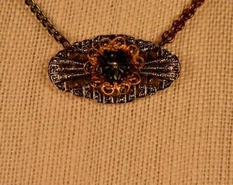 Necklace- Vintage Flower Black or White