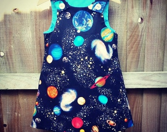 Space Pinafore Dress