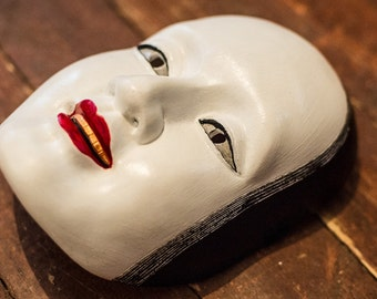 inspired Traditional Japanese Noh Female Mask