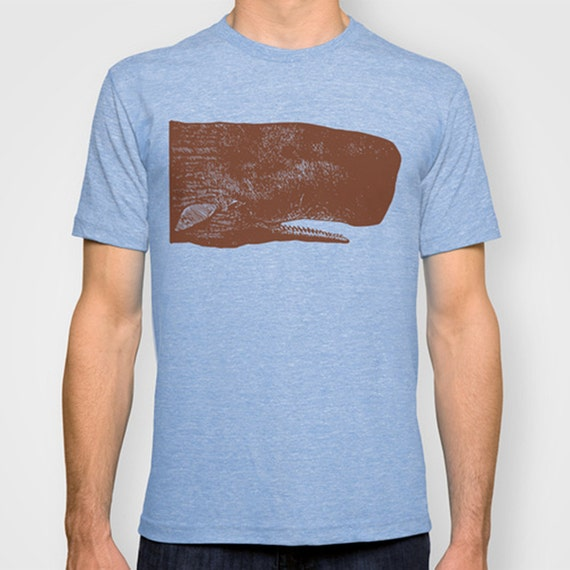 Items similar to sperm whale t shirt nautical t shirt for Vintage screen print t shirts