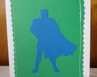 Birthday Card Boy Super Hero Handmade