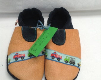 Leather slippers Gr. 22 push 23