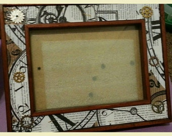 Steam punk picture frame