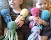 crochet baby octopus plush toy- choose your colors