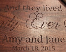 Personalized cutting board or charcuterie board.  Wonderful engraved wooden wedding gift or couples gift. Beautiful kitchen decor item.