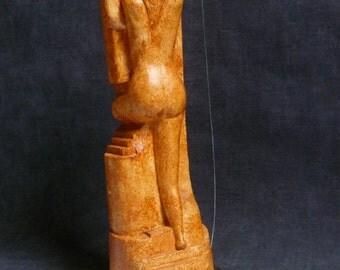 Gypsum woman sculpture. Eva