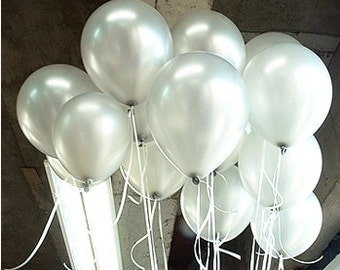 100pc/Lot 10' Inch1.5g Silver Latex Balloons Chirstmas Wedding Decoration Balloon Kids Birthday Party Supplies