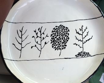 Seasons Platter in white and black