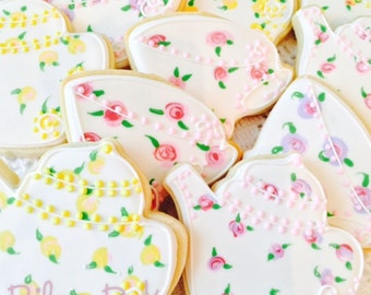 "Custom Decorated ""Tea Party"" Sugar Cookies"