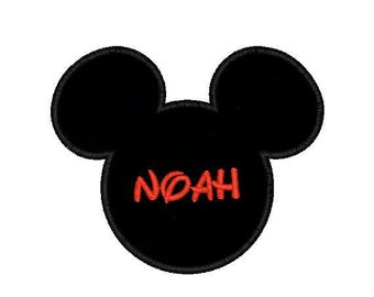 Mickey Head Applique in 3 Sizes - Instant Download