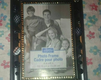 4x6 picture frame with black beads