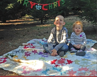 Photo with Chalkboard Christmas Card - Chalkboard Christmas Card - Personalized Digital File