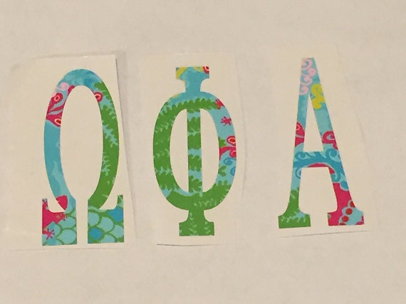 lilly pulitzer greek letters lilly pulitzer inspired vinyl letters by 23448 | il 570xN.717503800 r8l4