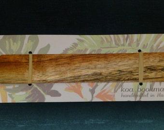 Handcrafted Hawaiian Koa Wood Bookmark