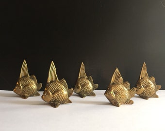 Vintage Solid Brass Angel Fish