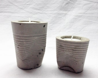 Cement cup tealight holders