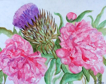 Birthday Flowers Watercolor Limited Edition Print