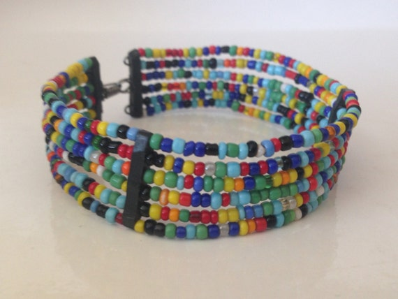 handmade beaded maasai bracelet by maasaibeadwork on etsy