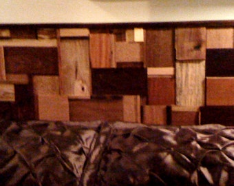 Spectacular Handcrafted Exotic Wood Full/Queen Headboard - Ready to ship