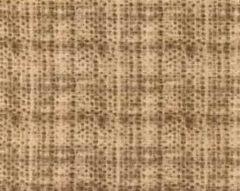 Not Too Many Neutrals Fabric - Brown Plaid
