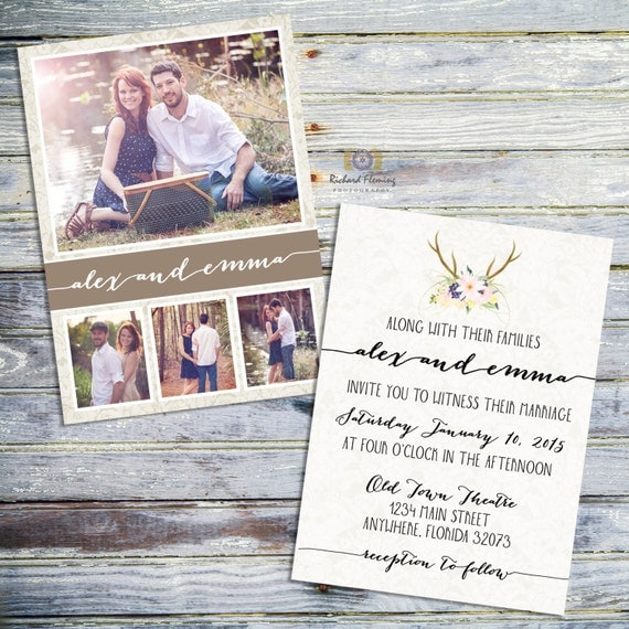 Printable Rustic Wedding Invitations Templates