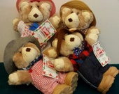 Furskins  Bears  Wendy's Promotion /Ferrell/ Hattie/ Appalachian Artworks  Excellent Condition   Price 4.00  Each