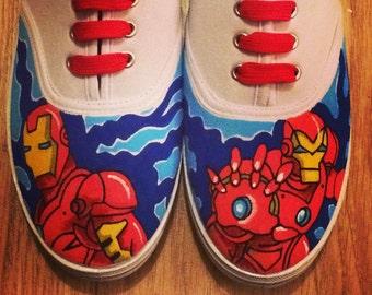 Iron Man Shoes, Custom Shoes, Custom Converse, Converse Allstars, Vans Shoes, Painted Shoes