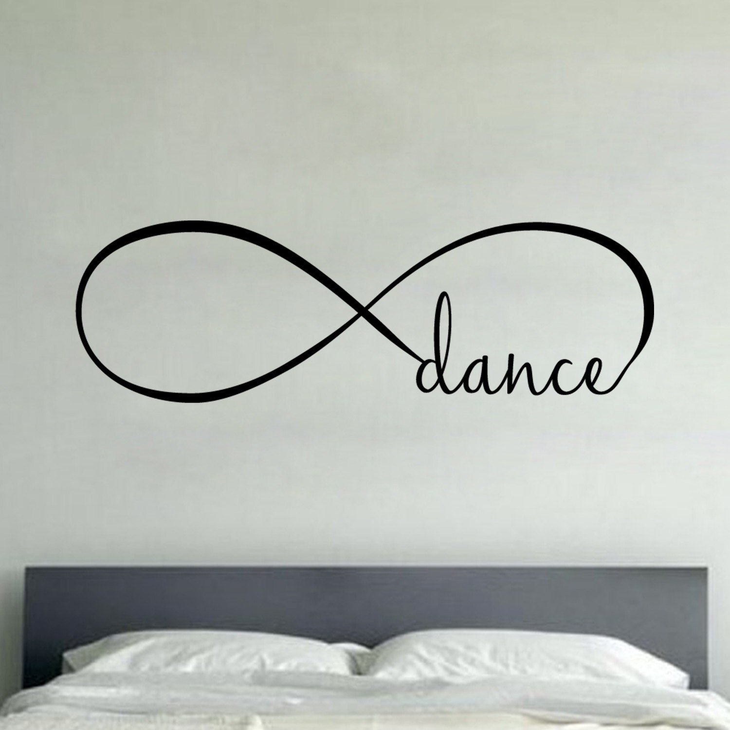 infinity dance wall vinyl decal sticker family kids room zoom