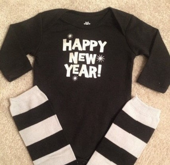 Items similar to New Years outfit baby boy leg warmers ...