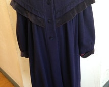 Vintage Blue Wool Dickens Victorian Style Coat by Rothchild USA Versitile Steampunk Design