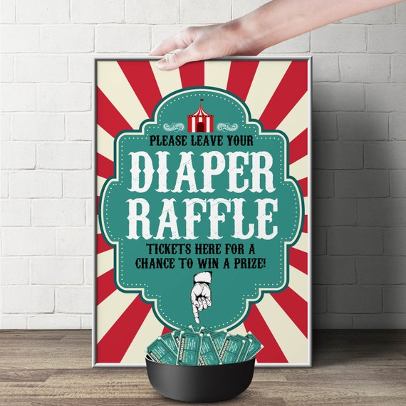 Diaper Raffle Sign Quot Vintage Circus Quot Printable File Only