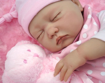 "Reduced For A Limited Time - Reborn baby girl doll Sophie 22"" big newborn 4lbs genesis heat paints real my fake baby realsitic sleeping baby"