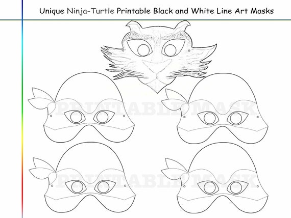 coloring pages ninja turtles party printable by - Ninja Turtles Face Coloring Pages