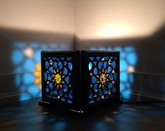 Multi-purpose wooden Persian Girih Chini night light table light hanging light CHRISTMAS GIFT