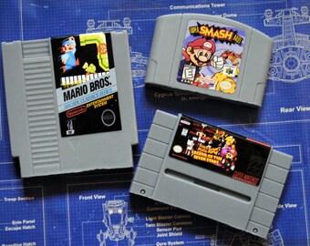 Super Mario Multi Cart parody Soap Pack - NES Cart Soap, N64 Cart Soap, SNES Cart Soap - Super Mario - Retro and geeky! nerdy, retro gamer