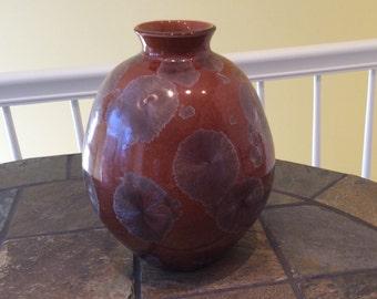 "11"" crystalline vase."