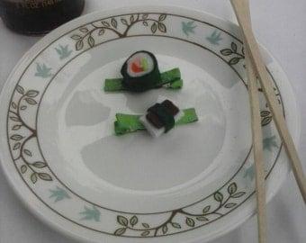 Sushi hair clip-kawaii hair clip-felt hair clip-felt sushi-sushi bobby pin-musubi hair clip-felt accessories-sushi hair accessories