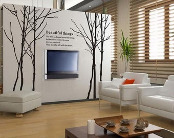 Large Branches Tree Wall Decals Mural Vinyl Tree Wall Decal   Big Treewall  Decals  Removable