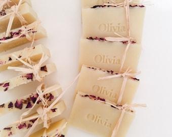 Custom Soap Favors - (60) Handmade Soap, Vegan Wedding Favors,  Party favors. Gift ideas. Cadeaux d'invités sur mesure.