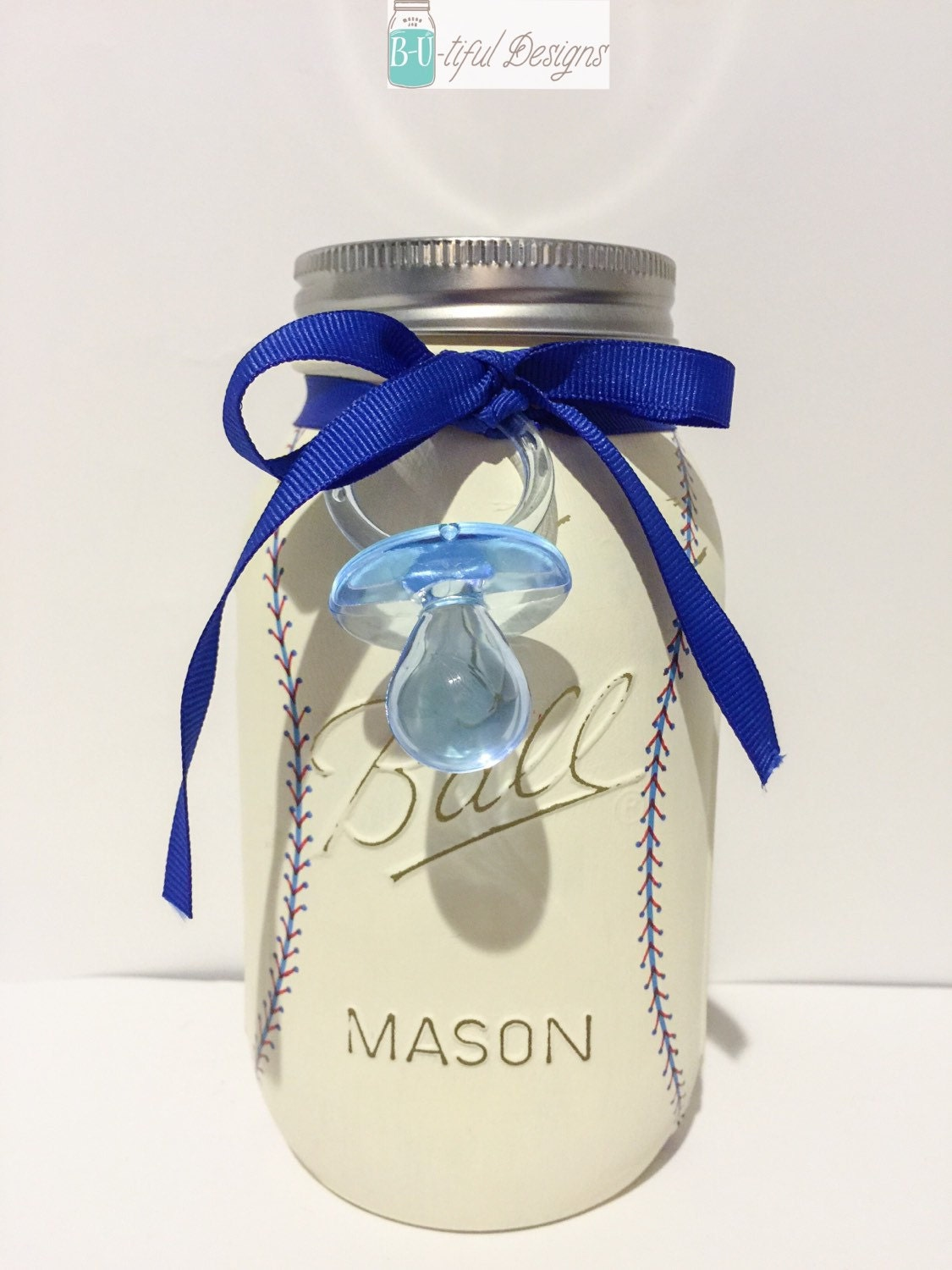 baseball baby shower mason jar centerpiece decor baseball boy