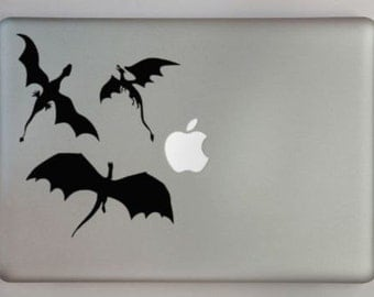 Dragons vinyl sticker for Mac Book/Air/Retina laptops