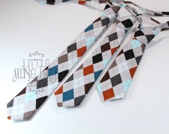 Baby Boy Necktie, Little Boy Necktie, Argyle Neckties