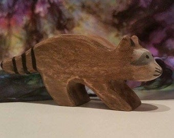 Raccoon Wooden Figure