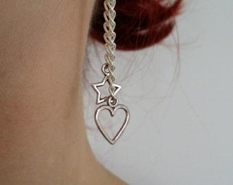 Heart & Star Earrings